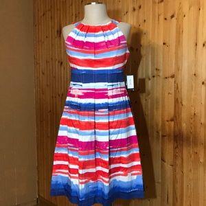 NWT Nine West Riviera Striped Swing Dress size 4